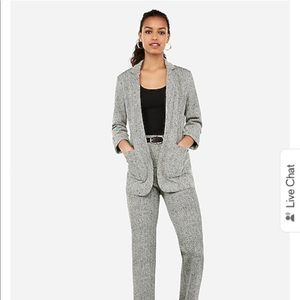 Express Women Gray Knitted Suit Set